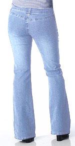 Angels Back Pocketless Light Jeans