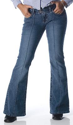 Angels Back Pocketless Jeans