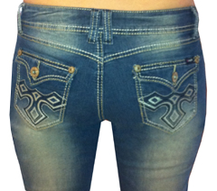 Angels Tribal Bootcut Jeans