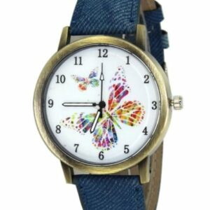 Jean Print Butterfly Watch