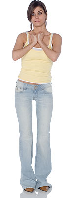 Angels Light Back Flap Jeans