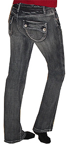 Mudd Black / Gray Back Flap Jeans
