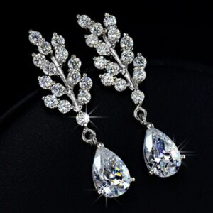 Spring Leaf Water Drop Earring