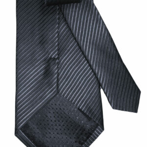 Silk Textured Tie – Gray Shine
