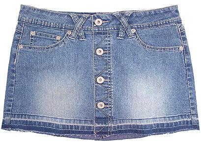 Angels Button-up Mini Skirt