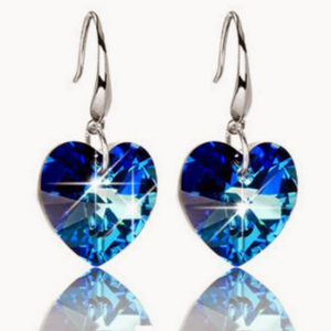 Deep Blue Love – Drop Earrings