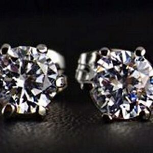 Rhodium Plated 0.5ct Cubic Zirconia Earrings