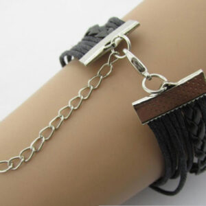 Retro Leather Rope Love & Infinity Bracelet